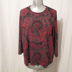 Laura Ashley Paisley Print Long Sleeve